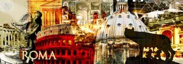 Digitaldruck / Poster Saskia Porkay - Roma - 314 x 110cm - Premiumqualität - Stdte - MADE IN GERMANY - ART-GALERIE-SHOPde