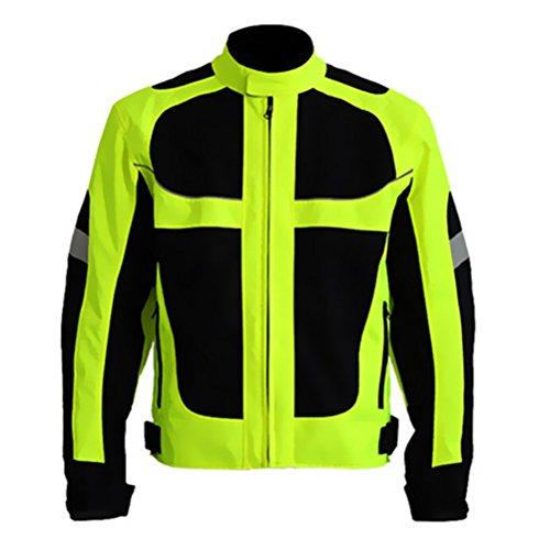 Hombres Verano Motocicleta Chaqueta Carreras Protector Engranaje La seguridad Vestimenta (XL(Chest:44.5''))