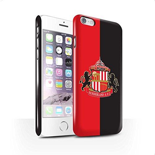 Offiziell Sunderland AFC Hülle / Glanz Snap-On Case für Apple iPhone 6 / Pack 6pcs Muster / SAFC Fußball Crest Kollektion Rot/Schwarz