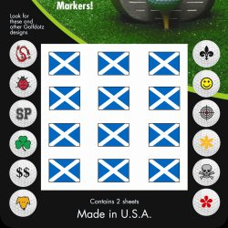 Flag Transfer (GOLFDOTZ GOLF BALL TRANSFERS. SCOTLAND FLAG 32)