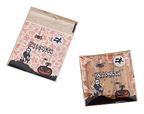 Black Temptation Packung mit 100 schönen Süßigkeiten Papers Halloween Cookie Taschen, M3