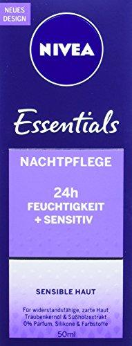 NIVEA Nachtpflege für sensible Haut, Sensitive, 50 ml Tube