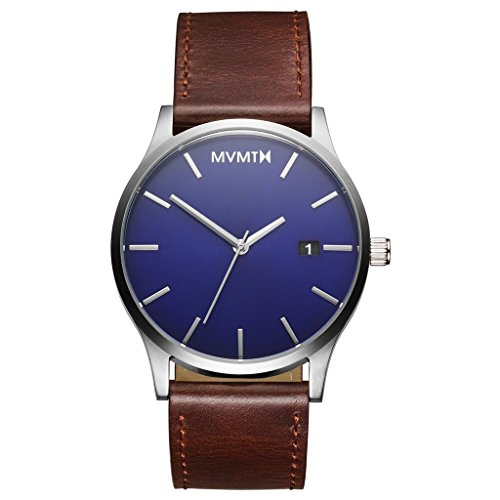 MVMT Watches Classic Herren Uhr Blue/Brown Leder Armband MM01BBL