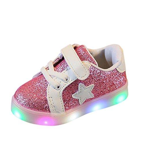 MEIbax Baby Fashion Star Sneaker LED Leucht Kind Kleinkind Casual Bunte Licht Schuhe,Leichte Lauflernschuhe Kinder Sportschuhe Turnschuhe Sneaker