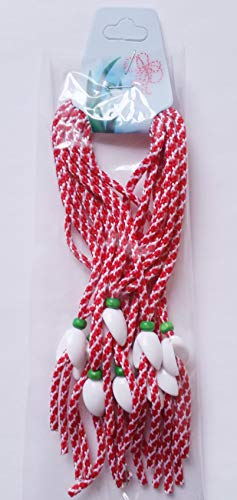 Crafts and Roses Lot de 10 Bracelets Traditionnels bulgares Martenitsa Fait à la Main