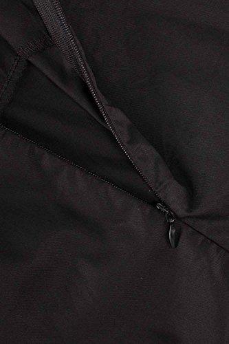 MisShow 2017 Damen Vintage Abendkleid Faltenkleid Transparenter Spitzen Hinten Frei V-Ausschnitt Ärmellos Knielang Retro Schwarz Gr.2XL - 6