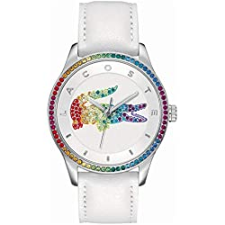 Lacoste Femme Analogique Quartz Montres bracelet avec bracelet en Cuir - 2000822