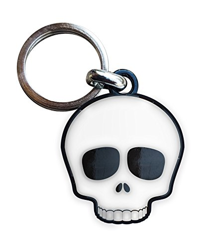 Metal Keyring Emoticon Skull