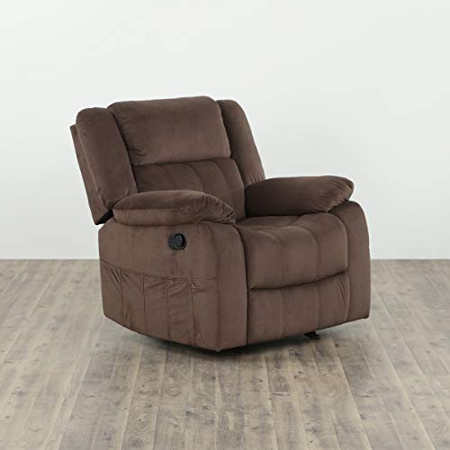 Home Centre Denver One Seater Gliding Recliner - Mocha