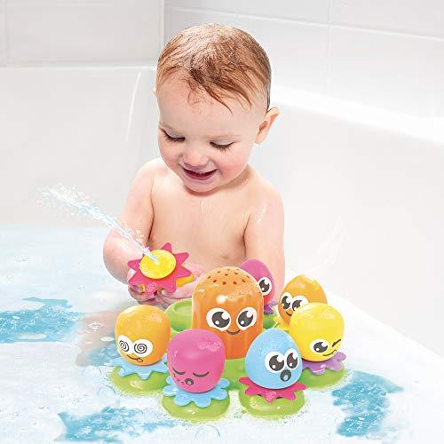 """TOMY Wasserspiel für Kinder """"Okto Plantschis"""" mehrfarbig – hochwertiges Kleinkindspielzeug – Spielzeug für die Badewanne – ab 12 Monate - 6"""