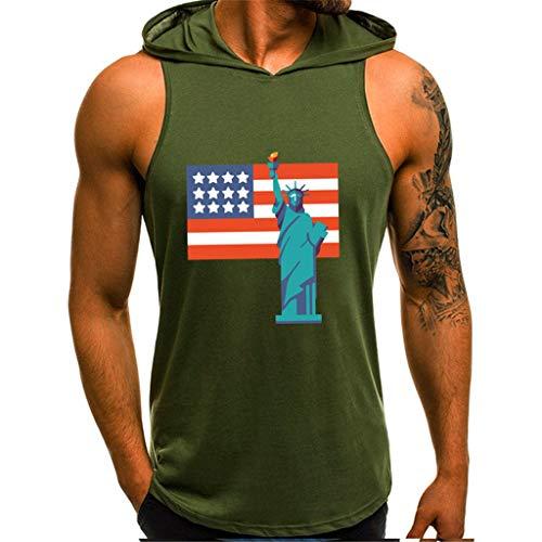 df0c775f135d4 Fannyfuny Herren Tanktop Kurzarm Weste Mode Sleeveless Hoodie Top Muskel Slim  Fit Fitness Ärmelloses Kapuzenpullove Tankshirt