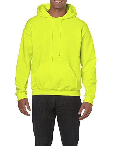 Gildan Herren Adult 50/50 Cotton/Poly. Hooded Sweat /18500 Kapuzenpullover, Gelb (Safety Green 188), Large (Herstellergröße: L)