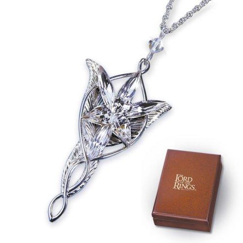 El Señor de los Anillos - Collar de Arwen: La estrella de la tarde (réplica) - Plata 925