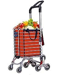 Carro de la compra plegable Dolly, 150 lb Escalera para uso general de acero Escalera