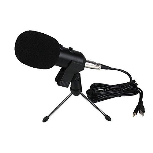 Forfar Kondensator-Mikrofon-Set, BM-100FX Mic Set mit justierbarem Mic Suspension Scissor Arm, Metall-Shock Mount and Double-Layer-Knall-Filter für Studio Recording & Brocasting (Mikrofon-Bundle)