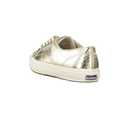 Superga 2750 Metcrocw Sneaker Damen gold
