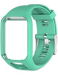 Favourall Correa de silicona de repuesto para reloj TomTom 2/3 serie GPS, deportivo, correa de silicona, color azul claro