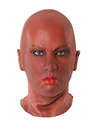 Frauenmaske aus Schaumlatex Frauengesicht für Rollenspiele