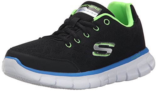 Skechers Synergy Fine Tune, Boys' Multisport Outdoor Shoes, Black (Black Lime), 1.5...