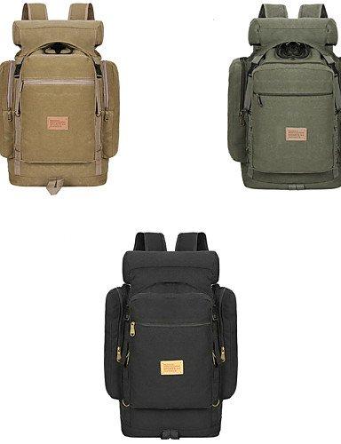 ZQ groß Outdoor Fashion Boutique Leinwand Tasche Bergsteigen Reiten Paket - khaki