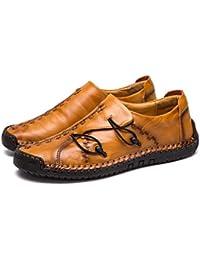 Zapatillas Hombre Cuero Zapatos Caballero Casuales Trabajo Ligeras Mocasines Ponerse Centavo Conducción Barco Vestido Formal