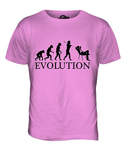 CandyMix Geschäftsmann Evolution Des Menschen Herren T Shirt Rosa