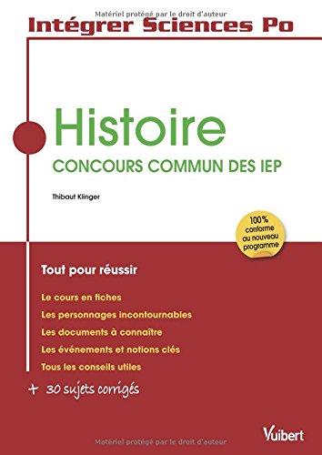 Histoire Concours commun des IEP - Intégrer Sciences Po