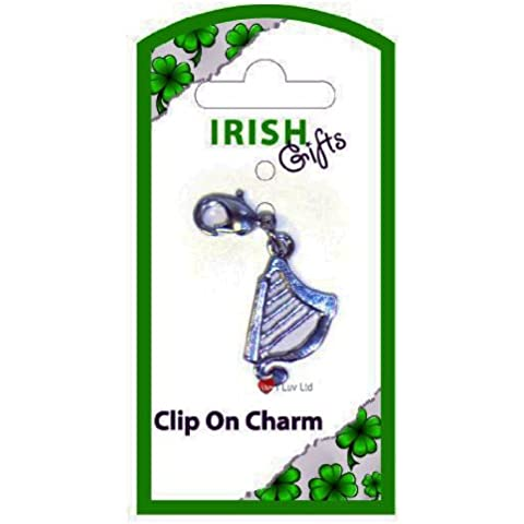 Irish Harp Clip on Charm - Charms Irish Harp