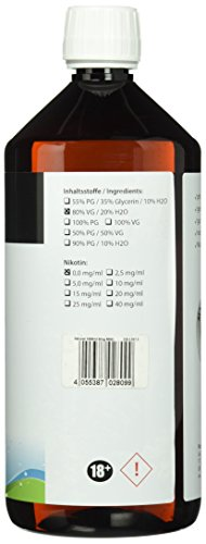 Riccardo Basisliquid Natural, 80 % VG / 20 % H2O, 99,5 % Ph. Eur, 1000 ml, Basis Liquid 0,0 mg Nikotin - 3