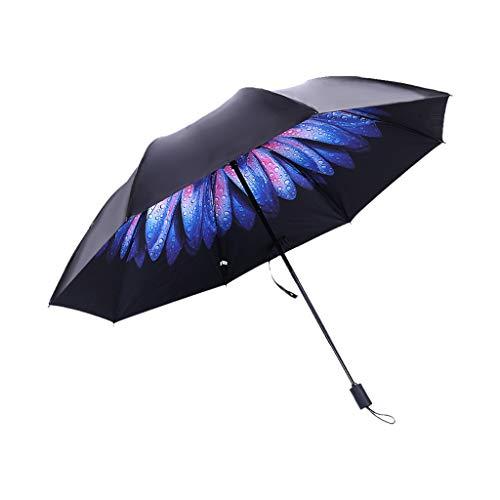 Sonnenschirm, Chshe, Regen Und Regen Doppelnutzungsschirm Für Sonne, Sonnencreme, Sonnenschirme Uv Sonnencreme 8 Knochen, Einfach Zu Bedienen Und Bequem Zu Bedienen (E)