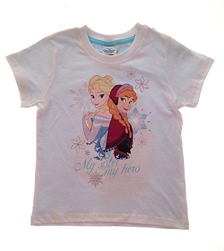 Disney Mädchen T-Shirt Weiß Weiß