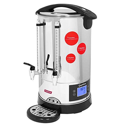Caytime Digitaler Teeautomat Teemaschine Samowar Teeautomat Teezubereiter Semaver Teekocher 10 Liter