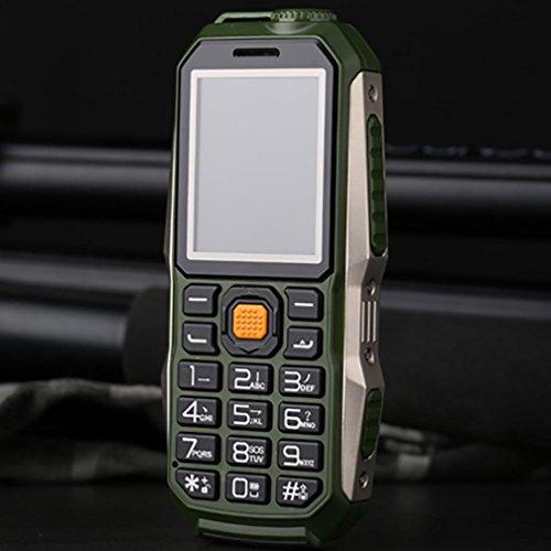 QHJ Dual SIM Outdoor Handy(6800mAh),IP68 Wasserdicht,Stoßfest, Rugged Handy Ohne Vertrag mit Lautem Lautsprecher (Armeegrün) (Entsperren Ohne Vertrag-handys)