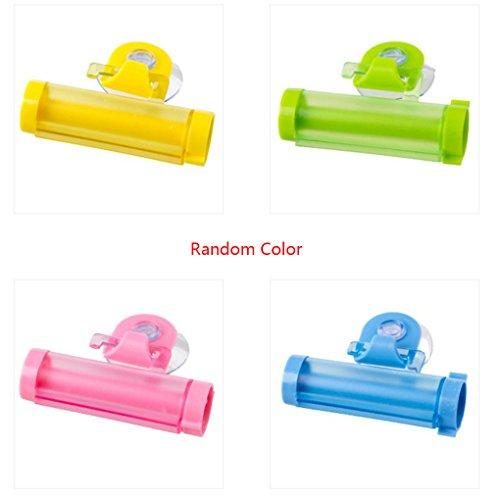 Tubo dispensador de pasta de dientes socio Sucker colgantes colgantes de pasta de dientes de almacenamiento Organizador Exprimidor color al azar Regard