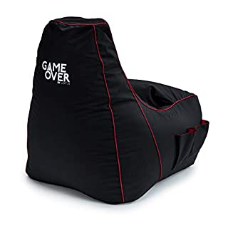 Loft 25® GAME OVER Electric Crimson (Red) Bean Bag Gaming Chair
