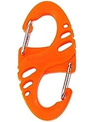 Babysbreath 4pcs de plástico de acero S forma mochila abrochaduras EDC llavero de camping botella gancho naranja