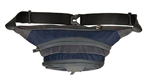 Baymate Unisex Hüfttasche Reißverschluss Außen Tasche Cross Body große Kapazität Sports Tasche Dunkel Blau