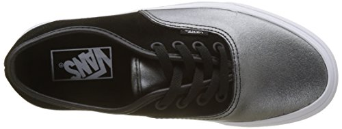 Vans Damen Authentic Seasonal Leather Sneaker Mehrfarbig (2-tone Metallic/ Black/true White)