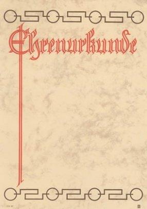 Albert Hoffmann Urkundenverlag Ehrenurkunden / 113 / PC-Urkunden (170 g/m²) 10 Stk