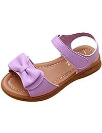 OHQ Scarpe per Neonato, bambini Infantile Sandalo delle Ragazze dei Pattini della Principessa Casuali Ragazza del Bambino con Paillettes Scarpe da Morbide Sandali (29, Blu)