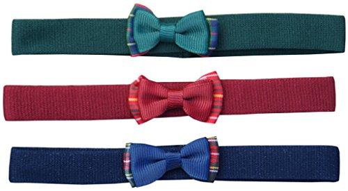 Jessidress Bandeau Cinta Headband Fiore Fascia per il bambino. 0-2 mese Blu Marino/Bordo/Verde
