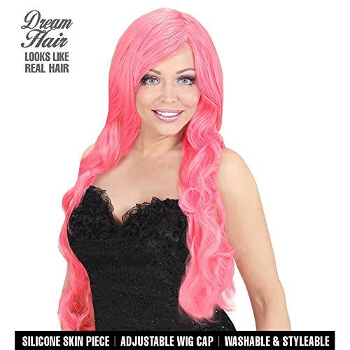 WIDMANN 02075espiral de pelo peluca Drea mhair, mujer, color rosa, talla única