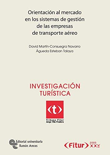 Portada del libro Orientación al mercado en los sistemas de gestión de las empresas de transporte aéreo (Tribuna Fitur Jorge Vila Fradera)