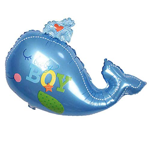 Wind Ziel Wal Design Folie Ballon Cute Cartoon Sea Tier Wal Ballon Party Raum Dekoration für Meer Thema Baby Dusche, 8 blau