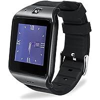 Reloj Inteligente, [Regalo de Padre] HAMSWAN Smartwatch Bluetooth para Andriod IOS, Smartwatch con Cámara Batería 550mAh Facebook Whatsapp Twitter Cronómetro Pódometro Monitor de Dormir etc. Reloj Inteligente Smartwatch Soporte Tarjeta TF SIM
