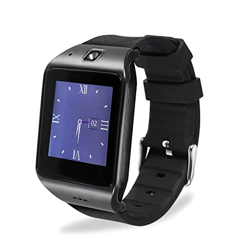 Bluetooth Smartwatch, EasySMX LG118 Smartwatch with Camera SIM Card,1.54 Inch LCD Touch Screen With Pedometer Sleep Monitor for iPhone, Android Samsung Galaxy Note, Nexus, HTC, Sony (Gun Metal)