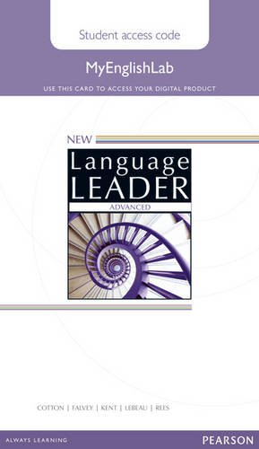 New Language Leader Advanced MyEnglishLab Access Card Standalone