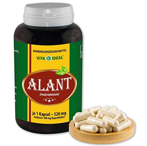 VITA IDEAL ® Alant-Wurzel (Inula Helenium) 180 Kapseln je 520mg, aus rein natürlichen Kräutern, ohne Zusatzstoffe -