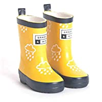 Grass & Air Little Kids Yellow Colour-Revealing Wellies with Bag