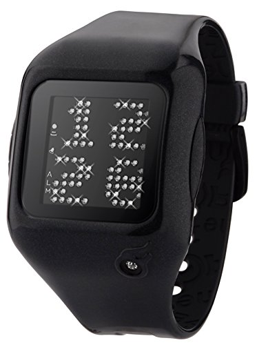 zerone-dazzled-animation-white-crystal-with-black-case-scrolling-message-watch